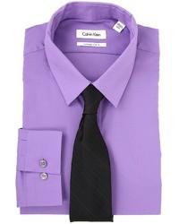 Camisa de vestir en violeta