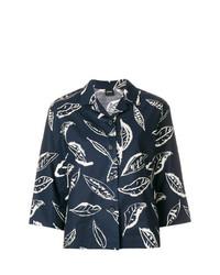 Camisa de vestir estampada azul marino de Aspesi