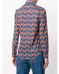 Camisa de vestir estampada azul de La Doublej