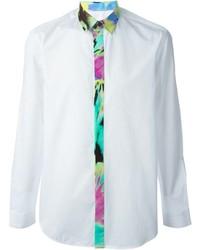 Camisa de vestir estampada blanca de Love Moschino