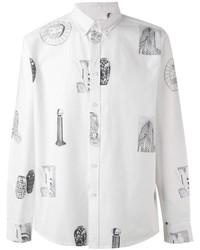 Camisa de vestir estampada blanca de Soulland