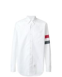 Camisa de vestir estampada blanca de Thom Browne
