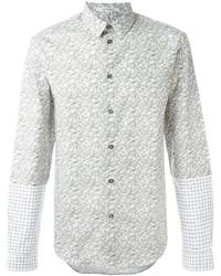 Camisa de vestir estampada en beige de Carven