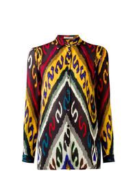 Camisa de vestir estampada en multicolor de Etro