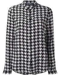 Camisa de vestir estampada en negro y blanco de Salvatore Ferragamo