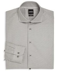 Camisa de vestir estampada gris