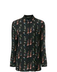 Camisa de vestir estampada negra de Etro
