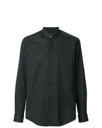 Camisa de vestir estampada negra de Pal Zileri