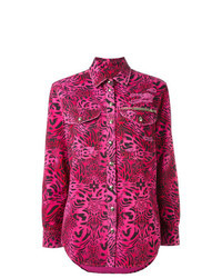 Camisa de vestir estampada rosa