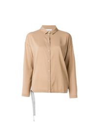 Camisa de vestir marrón claro de Fabiana Filippi