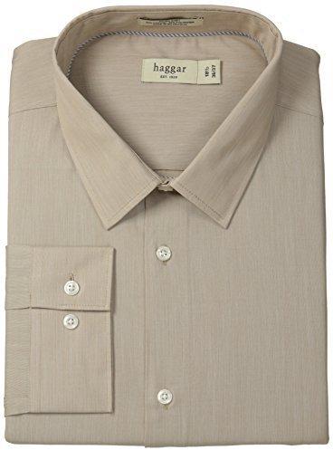 Camisa de Vestir Marrón Claro de Haggar