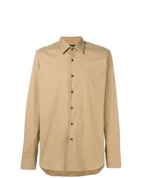 Camisa de vestir marrón claro de Prada