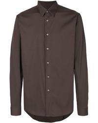 Camisa de vestir marrón de Jil Sander