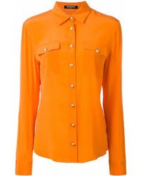 Camisa de vestir naranja de Balmain