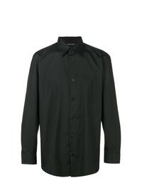 Camisa de vestir negra de Issey Miyake