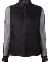Camisa de Vestir Negra de Jason Wu