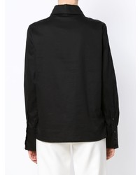 Camisa de vestir negra de Olympiah