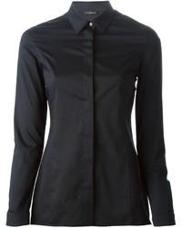 Camisa de vestir negra de Versace