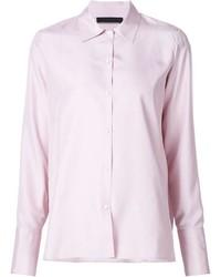 Camisa de vestir rosada