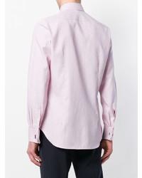Camisa de vestir rosada de Canali