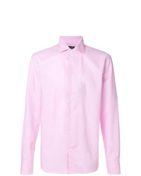 Camisa de vestir rosada de Corneliani