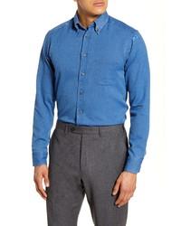 Camisa de vestir vaquera azul