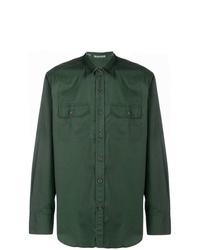 Camisa de vestir verde oscuro de Alessandro Gherardi