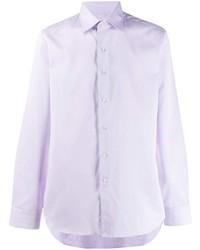 Camisa de vestir violeta claro de Canali