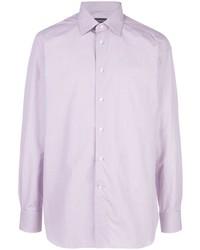 Camisa de vestir violeta claro de Ermenegildo Zegna