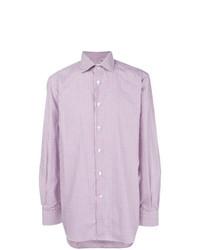 Camisa de vestir violeta claro de Kiton