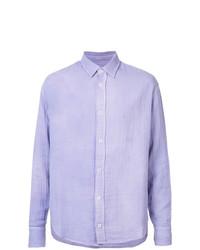 Camisa de vestir violeta claro de The Elder Statesman