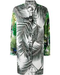 Camisa estampada verde oliva de Max Mara