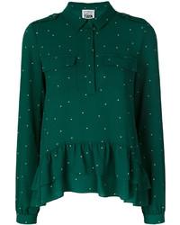 Camisa estampada verde de Twin-Set