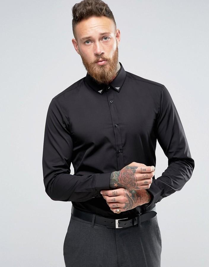 Camisa Negra de Hugo Boss  dónde comprar y cómo combinar f0b2ba716af71