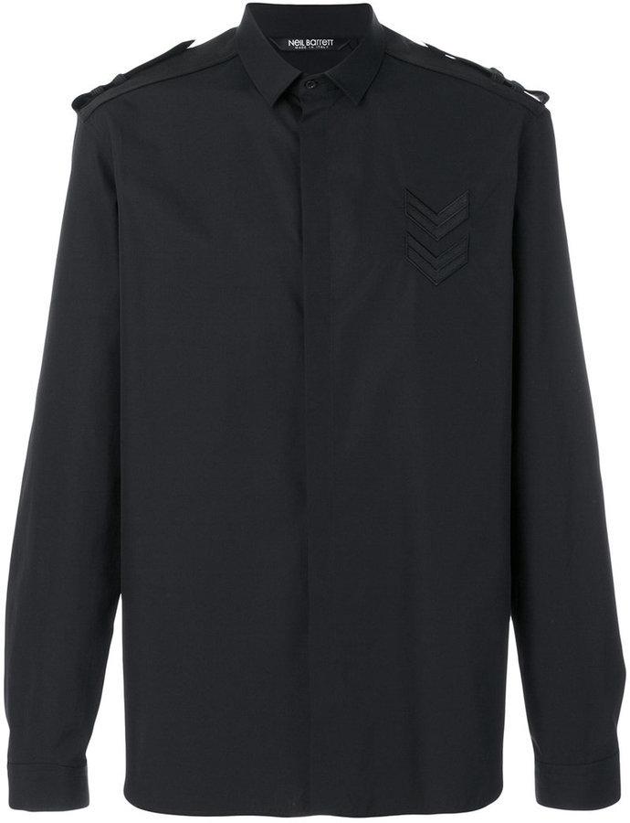 8ba1830d09a9e ... Camisa negra de Neil Barrett ...