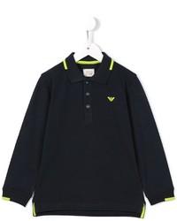 Camisa polo azul marino de Armani Junior