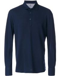 Camisa polo azul marino de Brunello Cucinelli