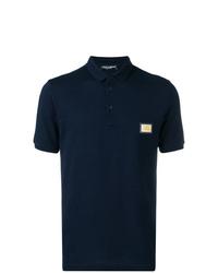 Camisa polo azul marino de Dolce & Gabbana