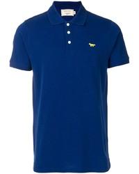Camisa polo azul marino de MAISON KITSUNÉ