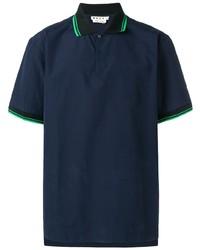 Camisa polo azul marino de Marni