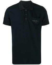 Camisa polo azul marino de Philipp Plein