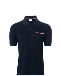 Camisa polo azul marino de Thom Browne