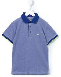 Camisa polo azul de Armani Junior
