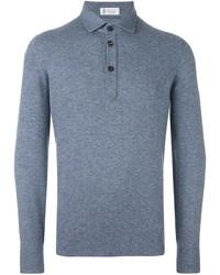 Camisa polo azul de Brunello Cucinelli