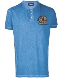Camisa polo azul de DSQUARED2