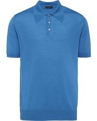 Camisa polo azul de Prada