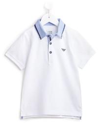 Camisa polo blanca de Armani Junior