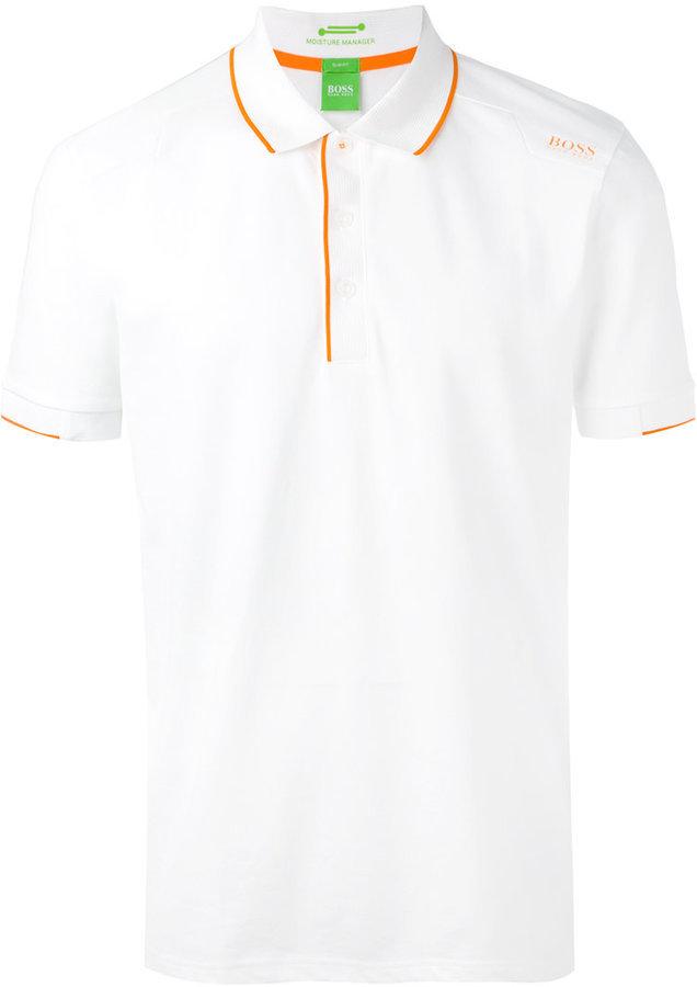 1df643d7be678 ... Camisas polo blancas Camisa polo blanca de Hugo Boss