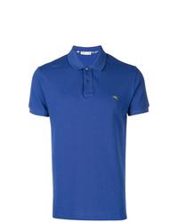 Camisa polo bordada azul de Etro