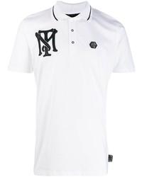 Camisa polo bordada en blanco y negro de Philipp Plein